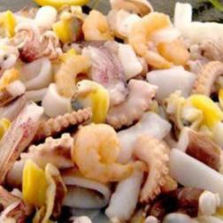 Mix de mariscos con calamares