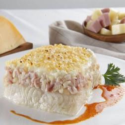 Souffle de Merluza con Jamón y Queso